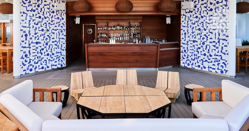 Bar on a cruise ship