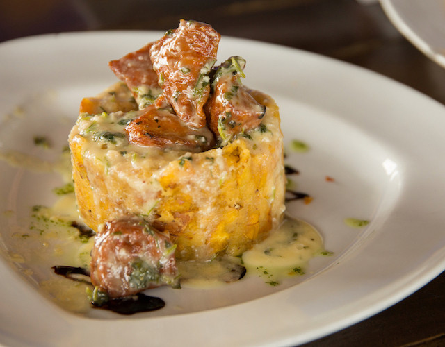 Mofongo, Puerto Rican Dish Made of Fried Plantain and Topped with Meat
