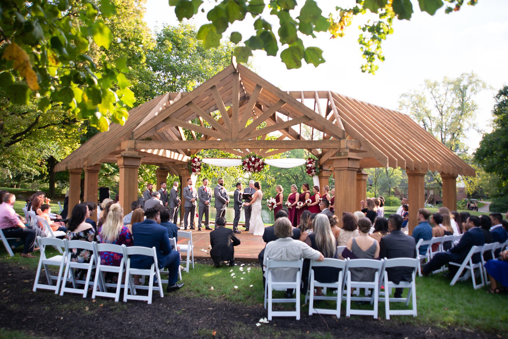 A perfect setting for outdoor weddings overlooking our pond