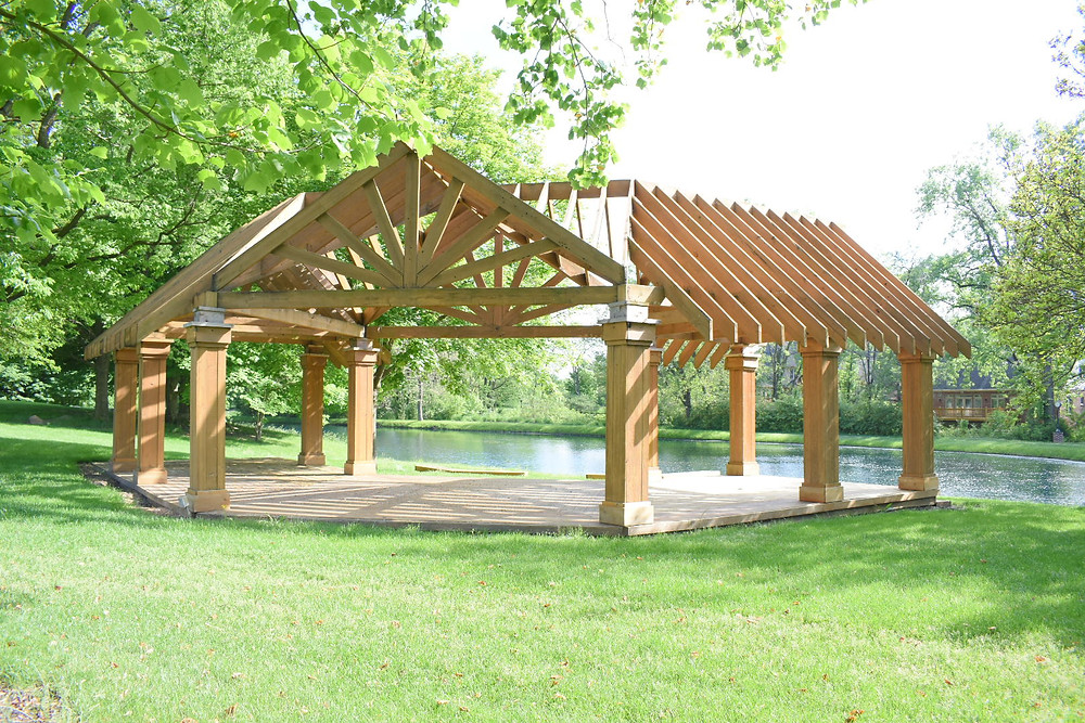 The Pergola is a beautiful outdoor venue for weddings and portraits on the grounds of The Balmoral House in Fishers, IN.