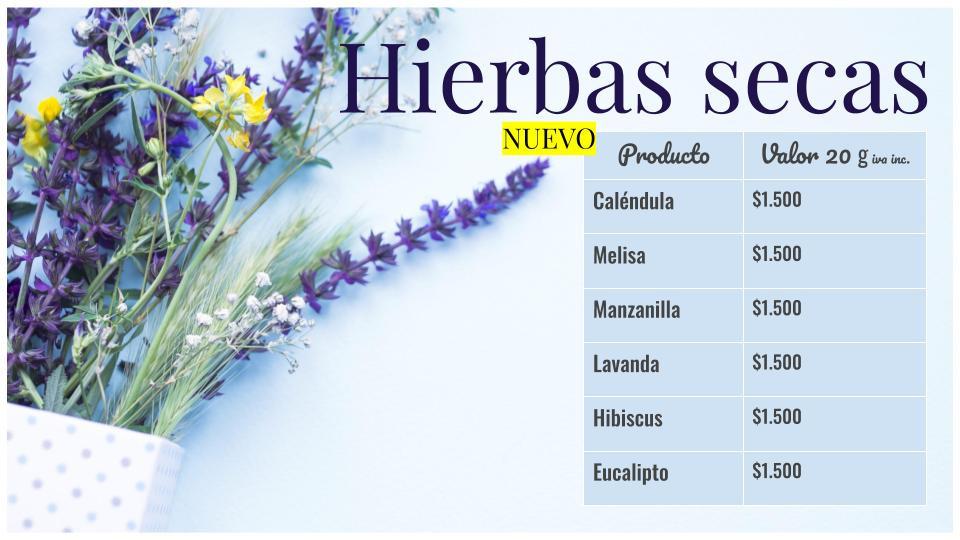 Hierbas secas para cosmética natural