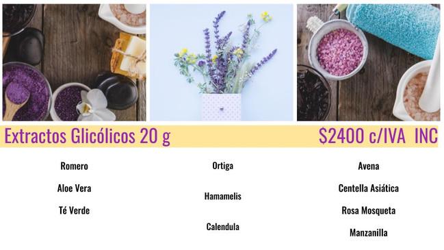 Extractos Glicólicos