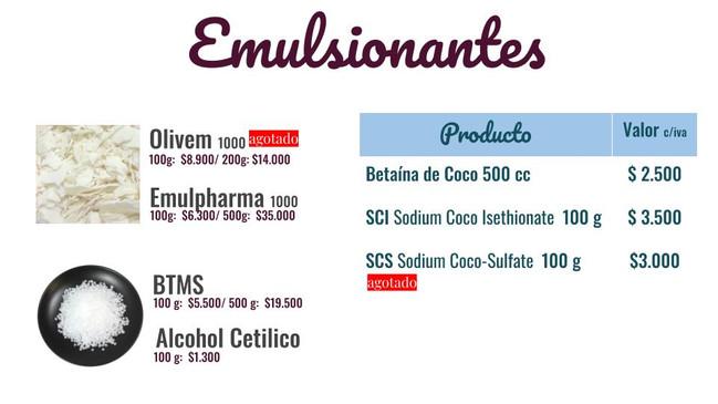 Emulsionantes y tensioactivos