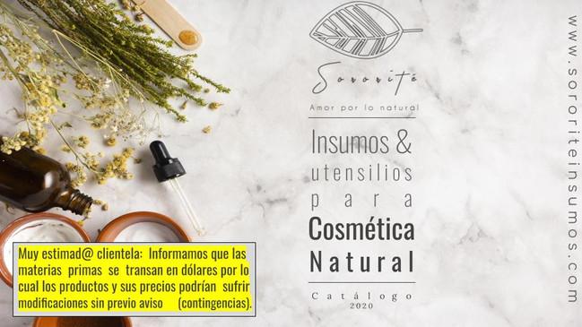 Insumos para cosmética natural