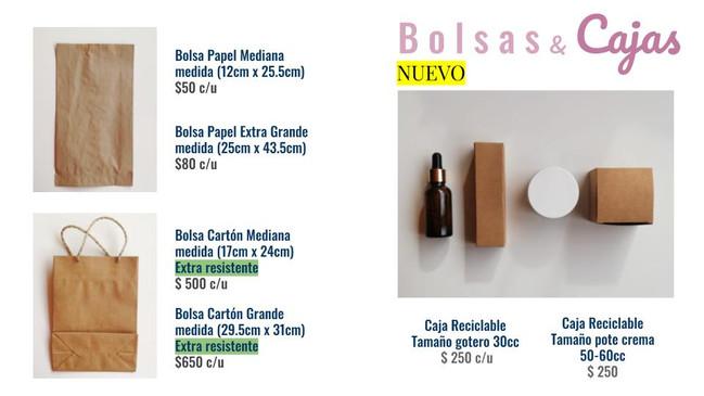 Bolsas y cajas compostables