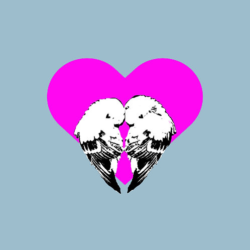 Love Birds (Blue & Pink)