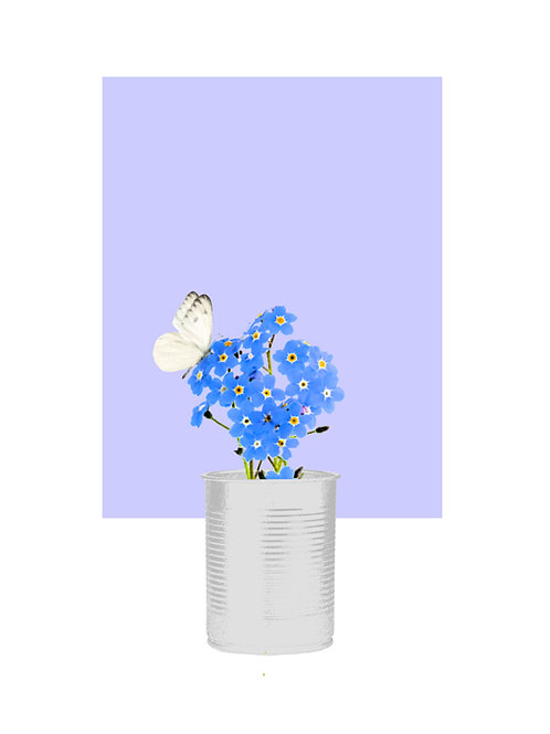 Forget Me Not (Periwinkle Small Square)