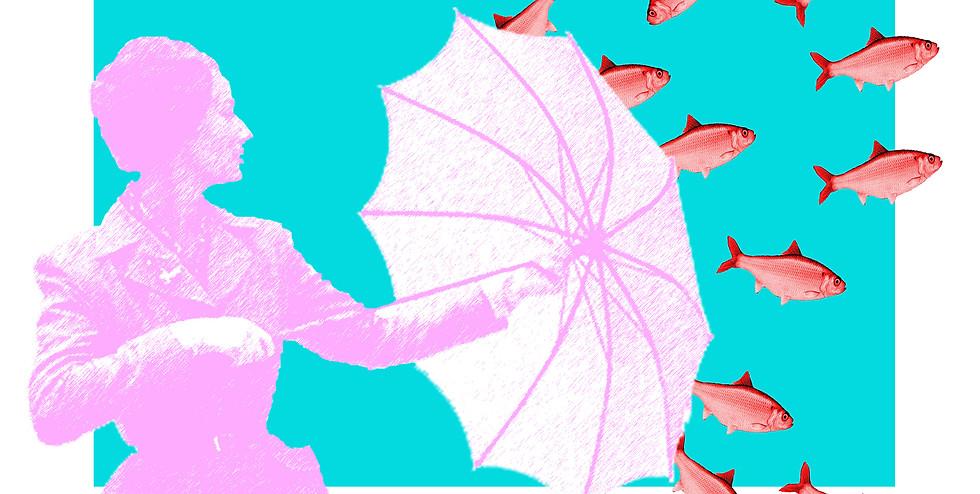 Umbrella Pow Standing in Heart Center.jp