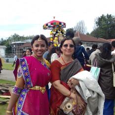 Vocal concert and  Kathak dance performance at Birmingham Balaji Temple Brahmotsavam 2016