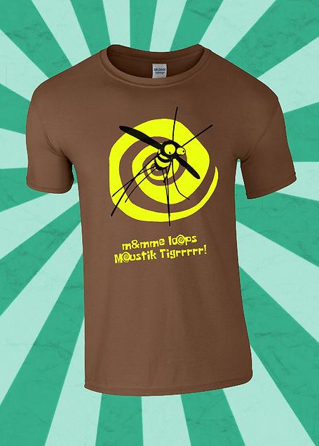 T-Shirt Moustik Tigrrr!! Homme par Monsieur et Madame LoOps