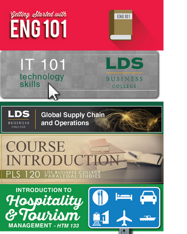 Course Banners