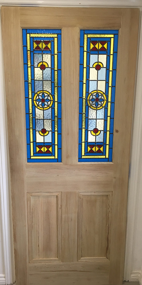 Stained Glass Internal Door Pitch Pine