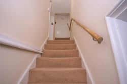 stairs leading up to front door