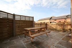 Town Farm Cottage patio