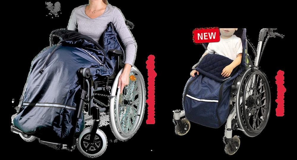 Thermo-Schlupfsäcke für Rollstuhlfahrer