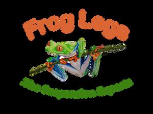 Logo Frog Legs Räder Rollen