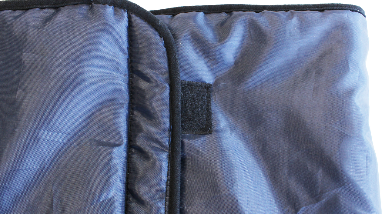 Wrap up blankets with hook and loop fasteners for scooter users