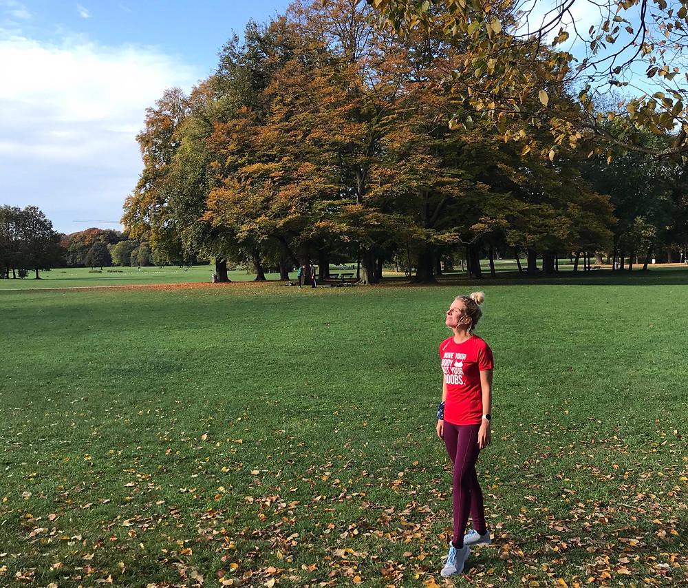 Nele nach dem Laufen im Englischen Garten