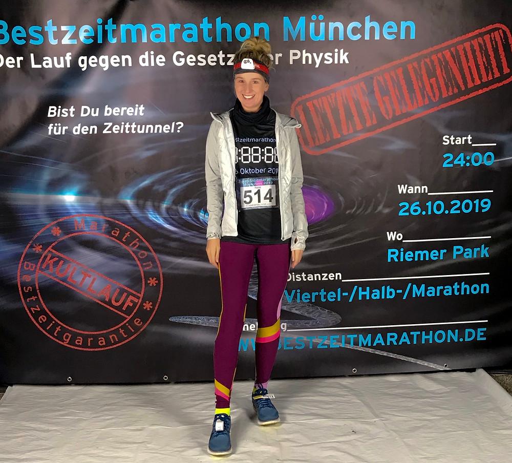 Nele vor dem Bestzeitmarathon in München