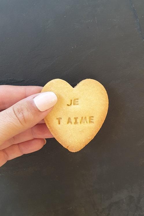 Biscuit cœur personnalisable