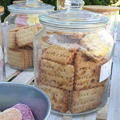 Biscuit personnalisable en forme de petit-beurre