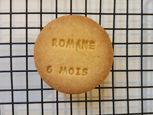 Biscuit rond personnalisable