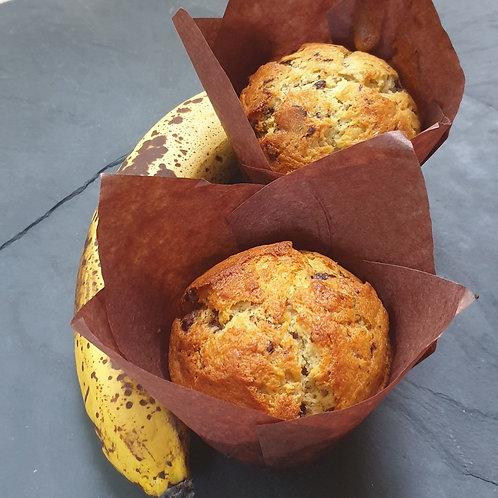 Muffins banane/chocolat