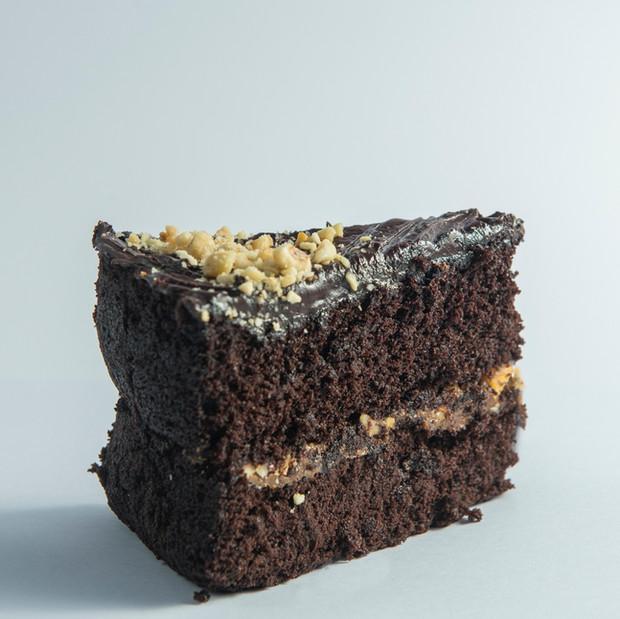 Chocolate, Hazelnut & Caramel Cake