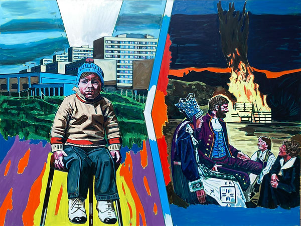 From The Hearth, Oil and Alkyd on Polyester, 200 x 150cm, 2021