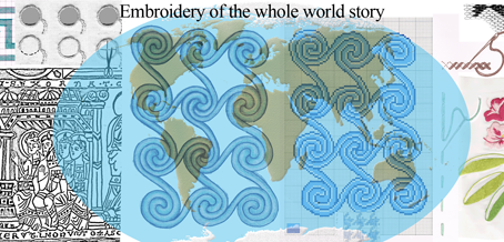 Embroidery of the whole world history