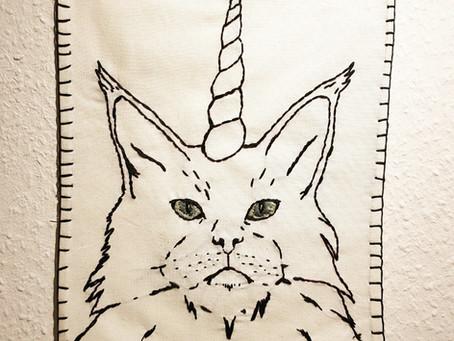 Mystische Einhornkatze