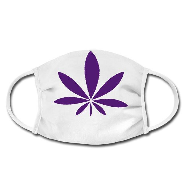Gesichtschutzmaske mit Cannabis Design