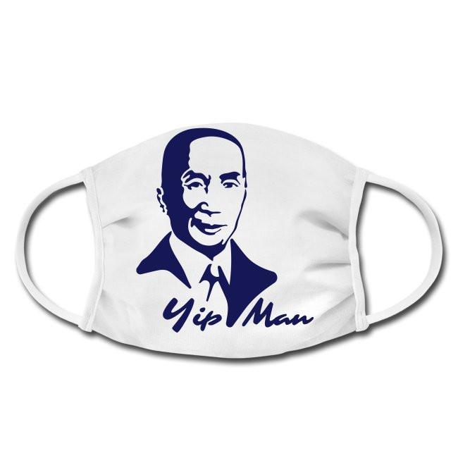 Gesichtschutzmaske mit Yip Man Porträt Kampfkünstler wing tun  Design