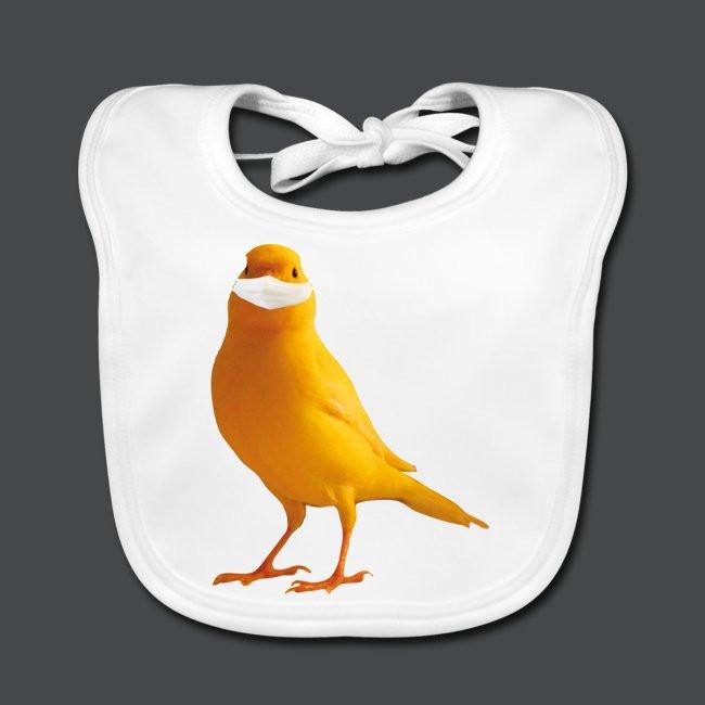 Kanarienvogel mit Maske