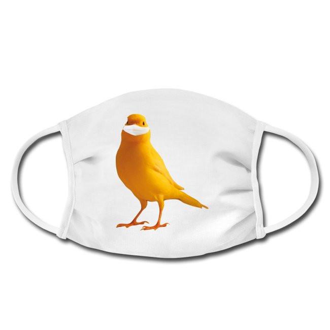 Gesichtschutzmaske mit Kanarienvogel mit Maske yellow bird protect Design