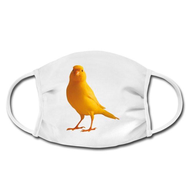 Gesichtschutzmaske mit Kanarienvogel yellow bird Design