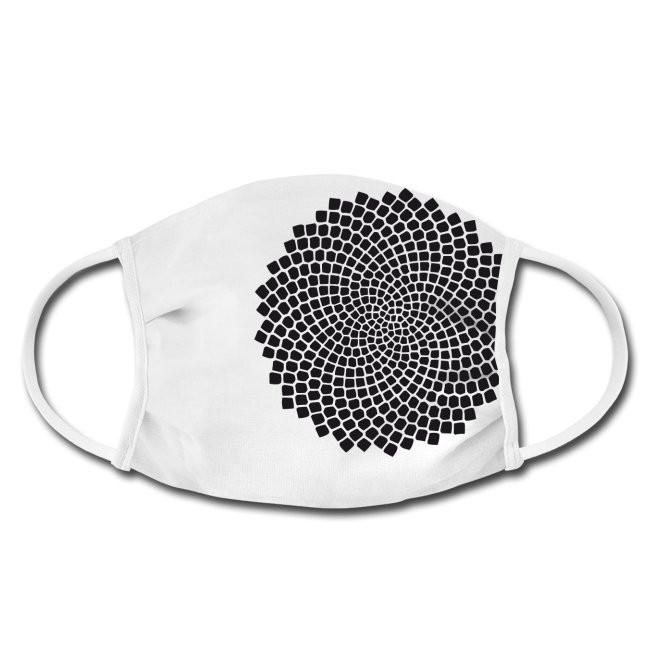 Gesichtschutzmaske mit Kieselalge Design