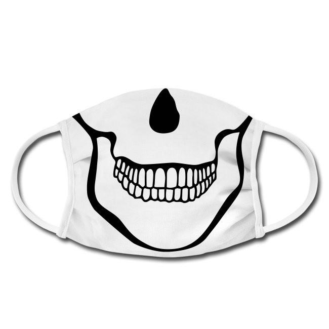 Gesichtschutzmaske mit Skull Kiefer Totenschädel Design