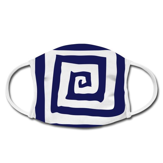 Gesichtschutzmaske mit Spirale Design