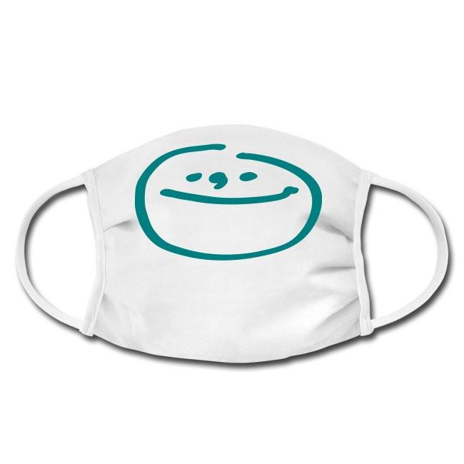 Gesichtschutzmaske mit Mondgesicht Design