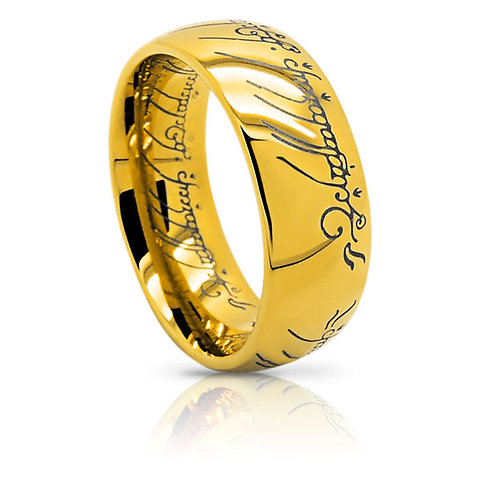THE ONE RING (TUNGSTEN) 18K GOLD PLATING
