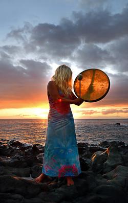 Trommeln am Strand von La Palma