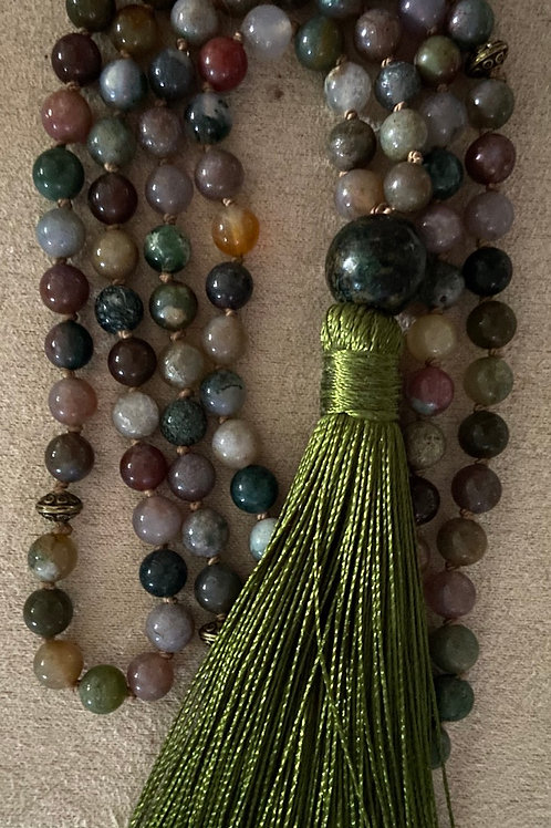 Indian Agate Full Mala