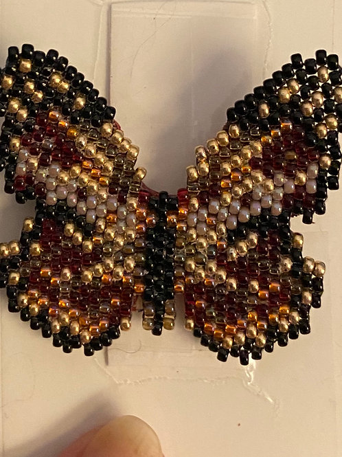 Fall Beaded Butterfly Pin