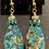 Thumbnail: Blue-Green Crazy Lace Agate Pendant Earrings