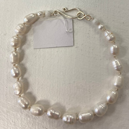 Silk Knotted Freshwater Pearl Bracelet