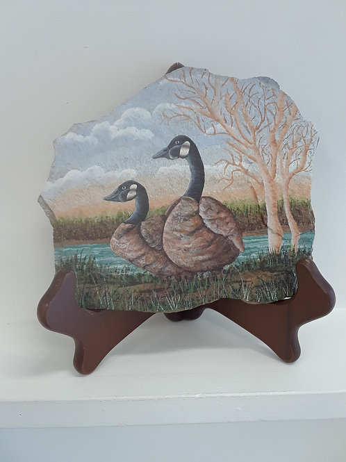 Canada Geese on Slate