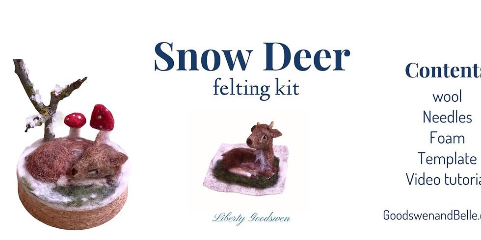 Snow deer online zoom workshop