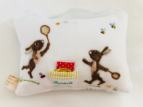 Tooth Fairy Pillow Sporty Tennis Rabbits