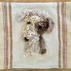Pet portrait cushion - like how the colo